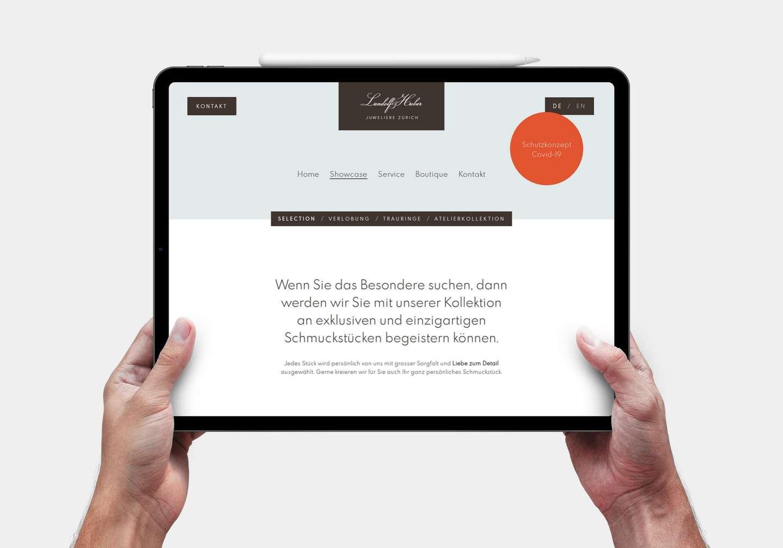 Rebranding: Schriftkonzept der Webseite