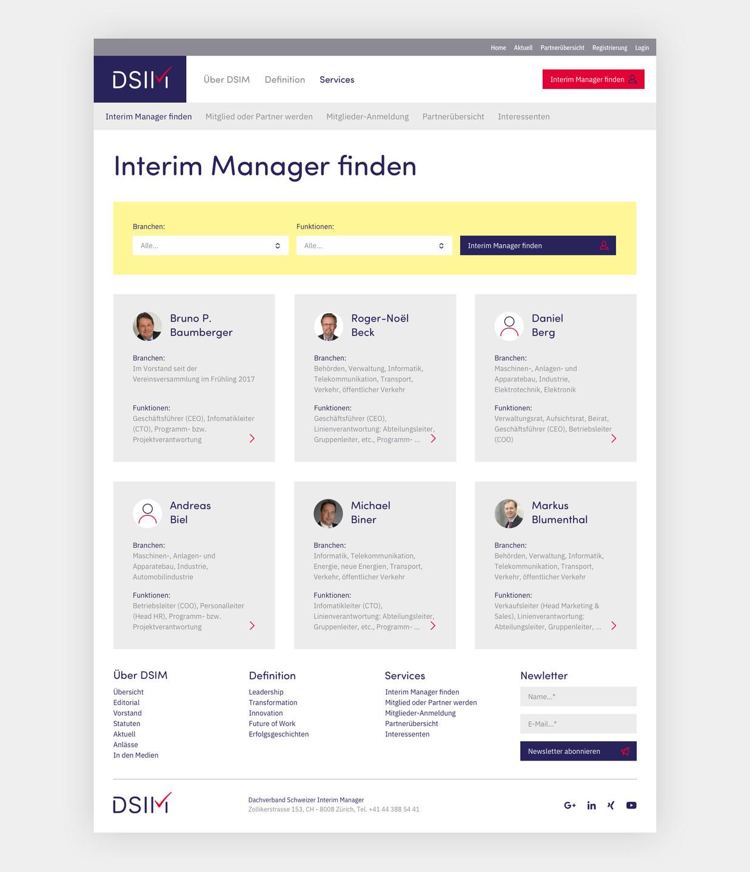 Interim Manager Suchfilter