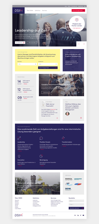 Homepage gemäss Corporate Design