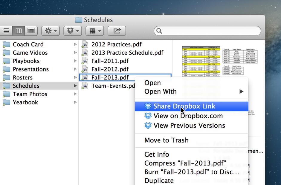 Dropbox Share Screen Situation