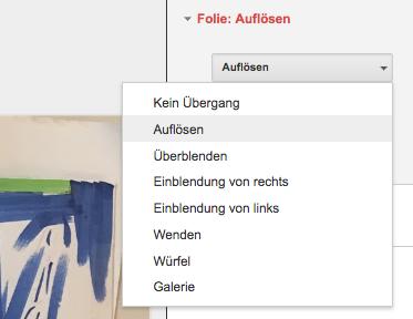 Google Slides kennt Kurzbefehle