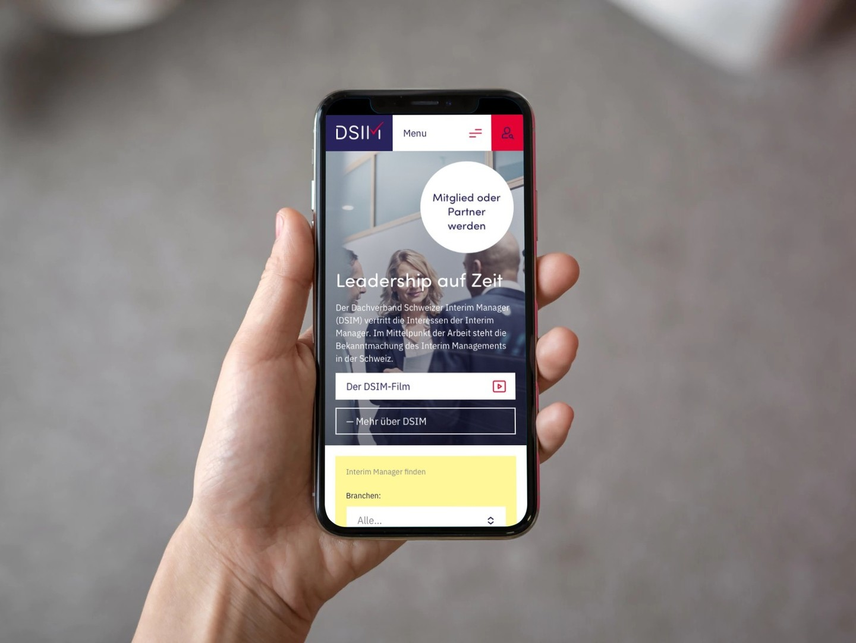 Mobile-Design Homepage