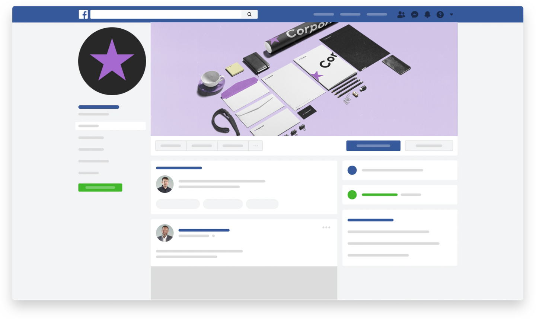 Facebook-, Linkedin- & Instagram-Profilseite