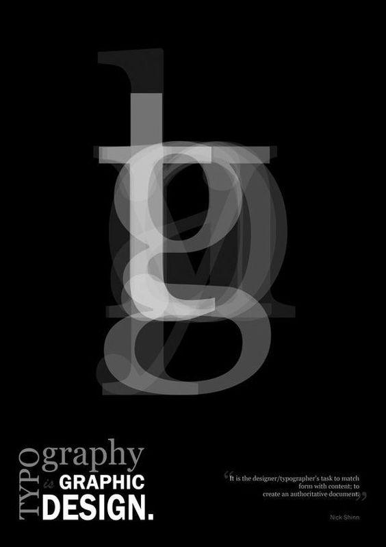 Typographie als tragendes Designelement
