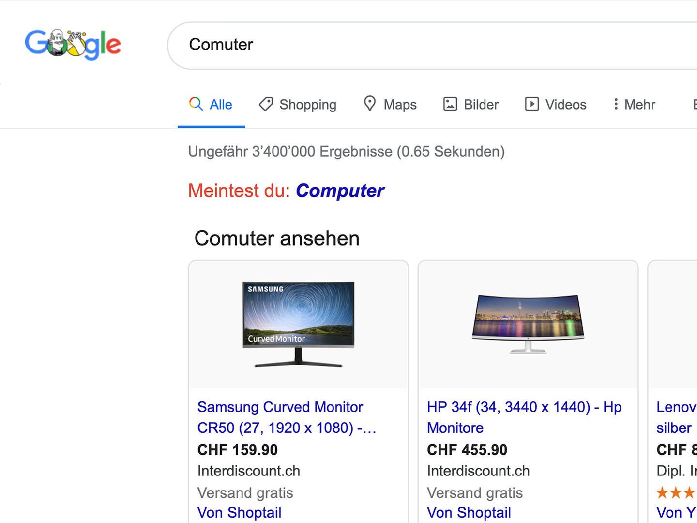 Platz 1 auf Google