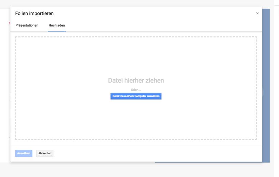 Upload PPT oder Google Slide