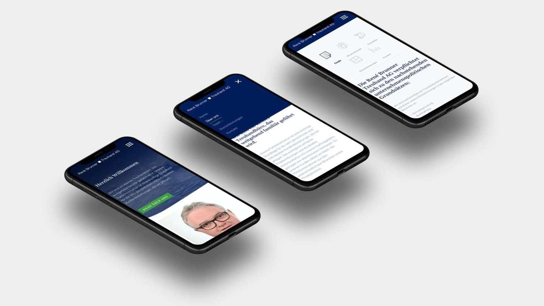 Mobiler Webauftritt für Treuhandfirma
