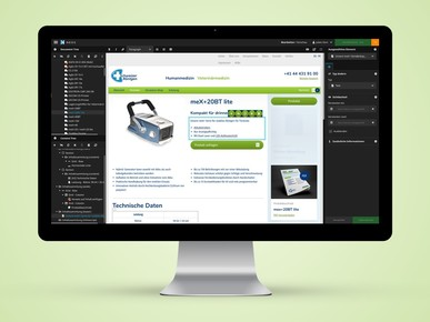 Corporate Webseite im Medizinal-Bereich