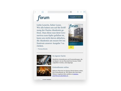 Forum Pfarrblatt Online